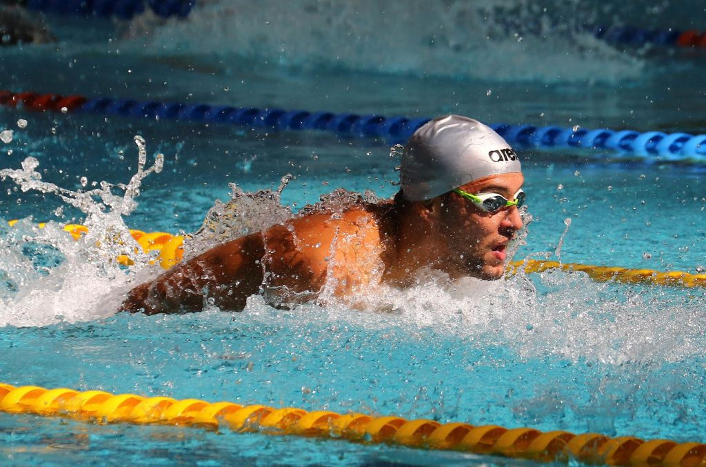 DURBAN, SOUTH AFRICA - APRIL 13: Chad le Clos qualifies for the Olympics during the heats session 100m butterfly for men on day 6 of the SA National Aquatic Championships and Olympic Trials on April 13 , 2016 at the Kings Park Aquatic Center pool in Durban, South Africa. Photo Credit / Anesh Debiky/Swim SA