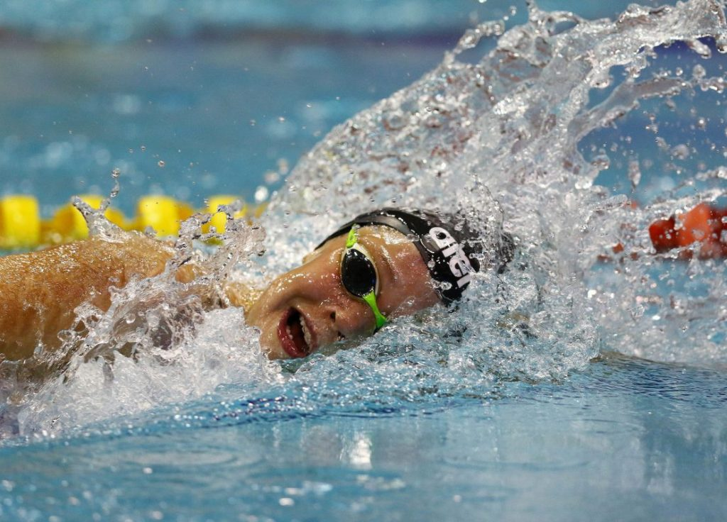 DURBAN, SOUTH AFRICA - APRIL 13: Erin Gallagher during the finals session on day 5 of the SA National Aquatic Championships and Olympic Trials on April 13 , 2016 at the Kings Park Aquatic Center pool in Durban, South Africa. Photo Credit / Anesh Debiky/Swim SA