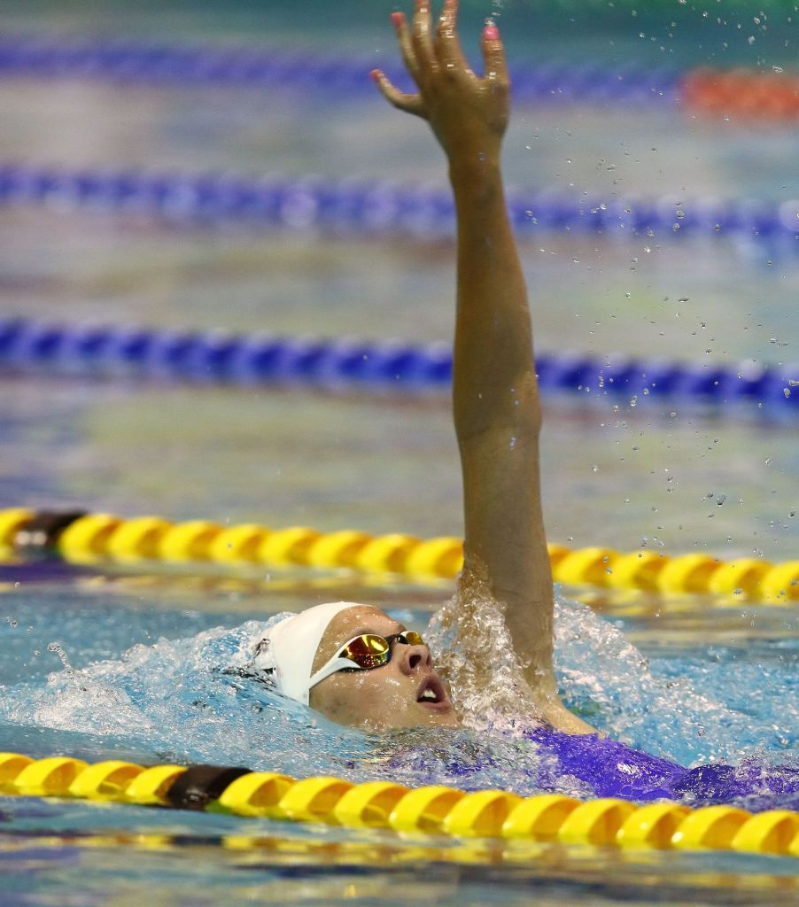 DURBAN, SOUTH AFRICA - APRIL 15: Marielle Venter during the finals session in the 200m backstroke semi final for women on day 6 of the SA National Aquatic Championships and Olympic Trials on April 15 , 2016 at the Kings Park Aquatic Center pool in Durban, South Africa. Photo Credit / Anesh Debiky/Swim SA