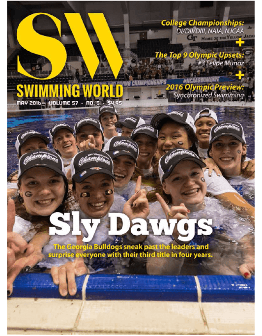 Swimming World Magazine May 2016 Issue--PDF ONLY - Cover