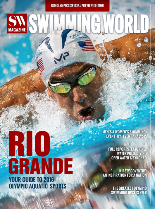Swimming World 2016 Rio Olympic Preview Issue - Cover