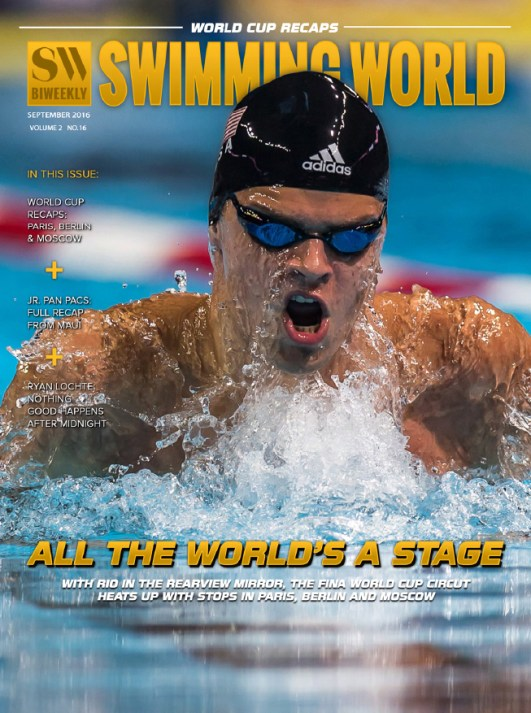 Swimming World Biweekly: FINA World Cup Series Underway - Cover