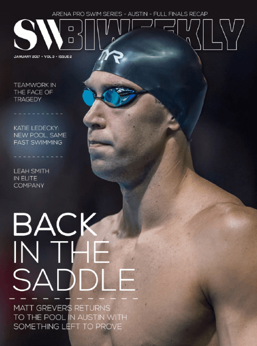 Swimming World Biweekly: Back in the Saddle - Cover