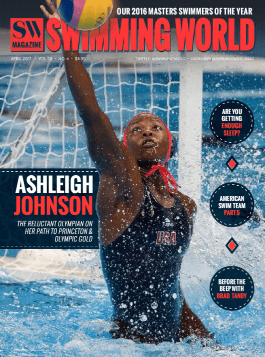 Swimming World Magazine April 2017 Issue--PDF ONLY - Cover