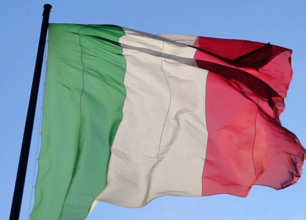 Italian Flag Wind Italy