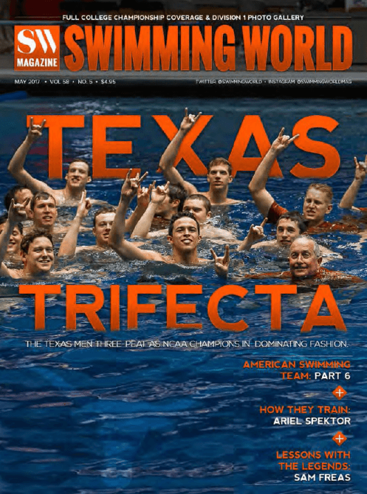 Swimming World Magazine May 2017 Issue--PDF ONLY - Cover