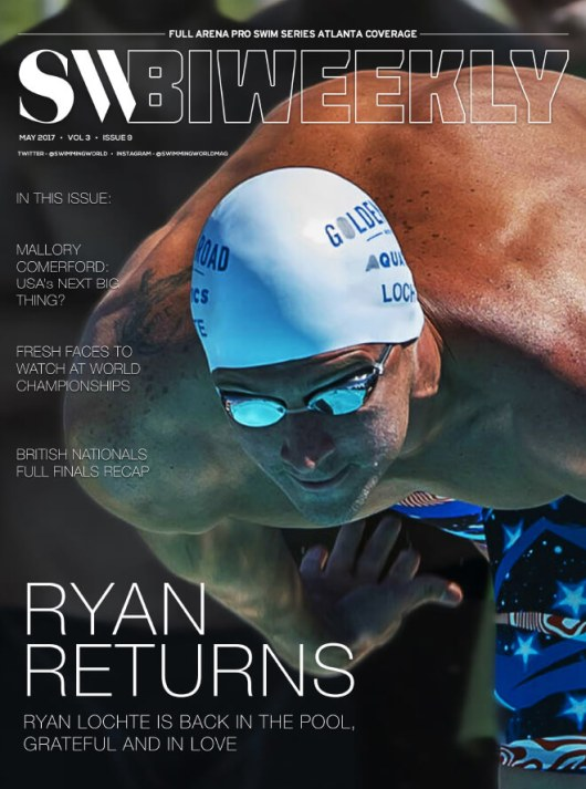 Swimming World Biweekly: Ryan Returns - Cover