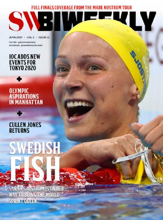 Swimming World Biweekly: Swedish Fish - Cover