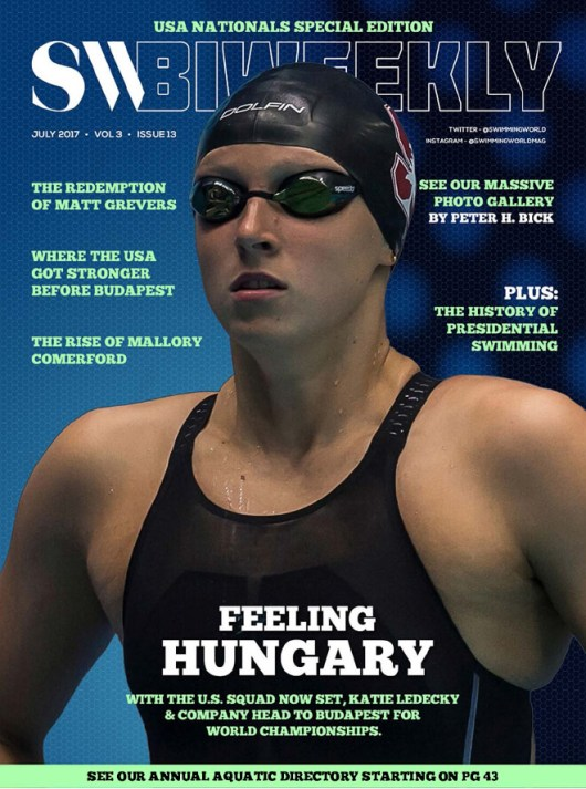Swimming World Biweekly: Feeling Hungary - Cover