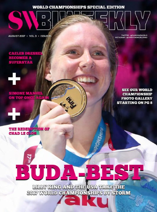 Swimming World Biweekly: Buda-Best - Cover