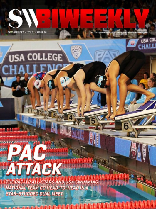 Swimming World Biweekly: Pac Attack! - Cover