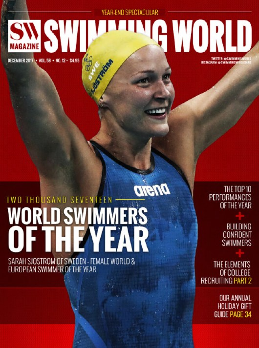 Swimming World Magazine December 2017 Issue--PDF ONLY - Cover