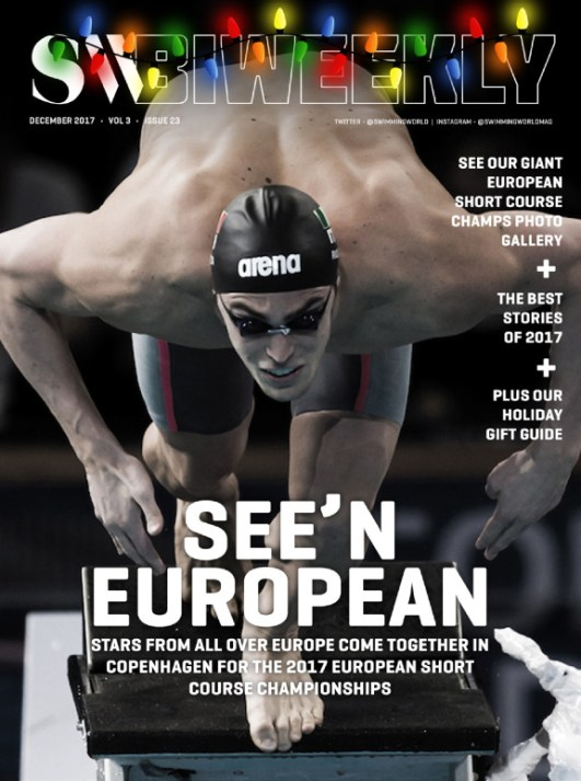 Swimming World Biweekly: Seeing European; Best Stories of 2017 - Cover