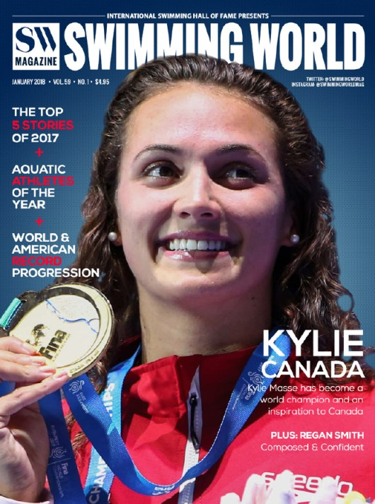 Swimming World Magazine January 2018 Issue--PDF ONLY - Cover