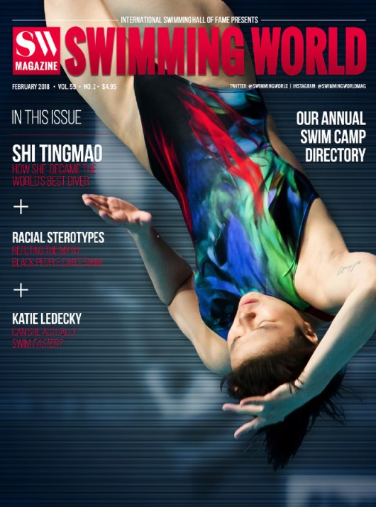 Swimming World Magazine February 2018 Issue--PDF ONLY - Cover