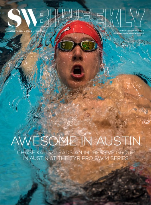 Swimming World Biweekly: Awesome In Austin - January 21, 2018 - Cover