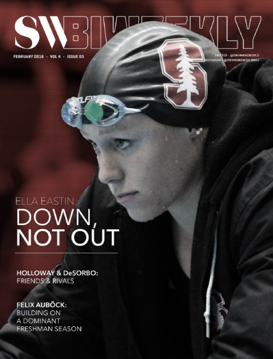 Swimming World Biweekly: Ella Easton Not Defeated - February 7, 2018 - Cover