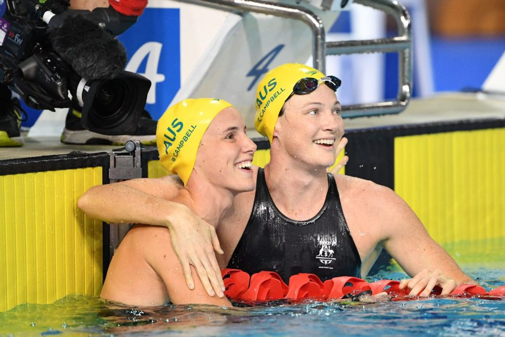 cate campbell, bronte campbell, 2018 commonwealth games
