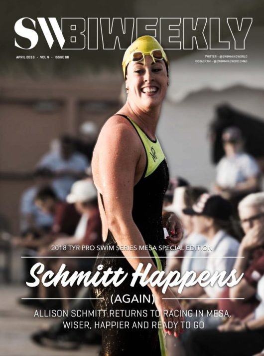 Swimming World Biweekly: The Comeback of Allison Schmitt; Commonwealth Games Recap - Cover