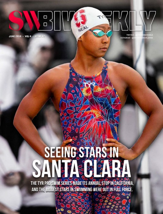 Swimming World Biweekly: Seeing Stars in Santa Clara - TYR Pro Swim Series - Cover