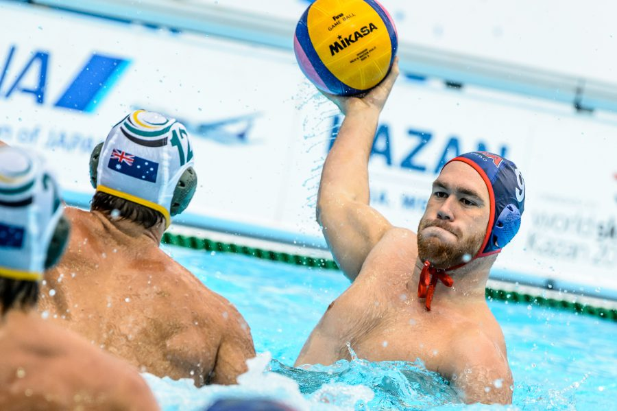 08-08-2015: Waterpolo: Australie v USA: Kazan Waterpolo match between men of Australia and USA during the 16th FINA World Championships 2015 in Kazan