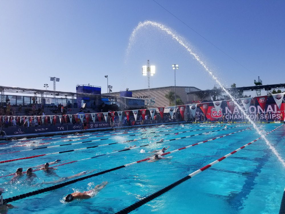 Swimmers warmup