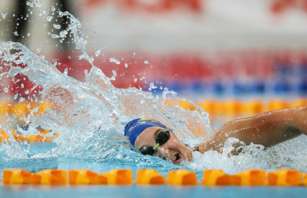 Emma Robinson, 800m Freestyle. AON Swimming New Zealand National Open Swimming Championships, National Aquatic Centre, Auckland, New Zealand, Monday 2nd July 2018. Photo: Simon Watts/www.bwmedia.co.nz