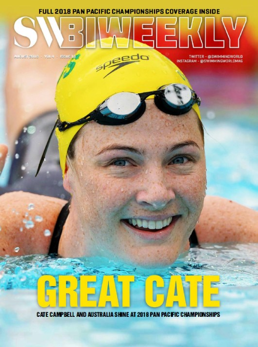 Swimming World Biweekly: Great Cate - Cover