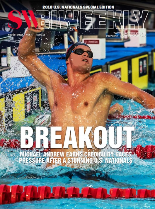 Swimming World Biweekly: Breakout - Michael Andrew - Cover