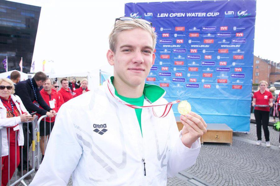 Swim event TF Christiansborg Rundt 2018. Swim event TF Christiansborg Rundt 2018. Winner of the fifth leg in Copenhagen: Kristóf Rasovszky (HUN).