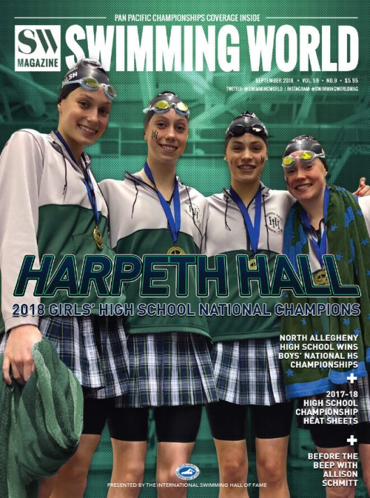 Swimming World Magazine September 2018 Issue--PDF ONLY - Cover
