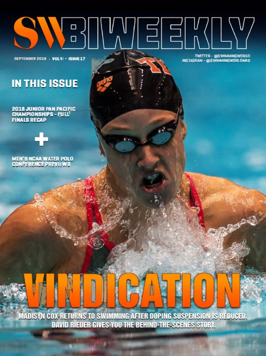 Swimming World Biweekly: Vindication - Cover