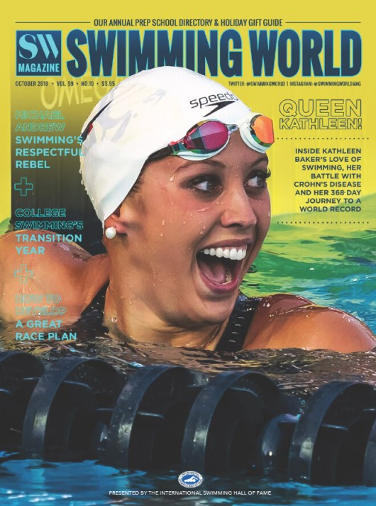 Swimming World Magazine October 2018 Issue--PDF ONLY - Cover
