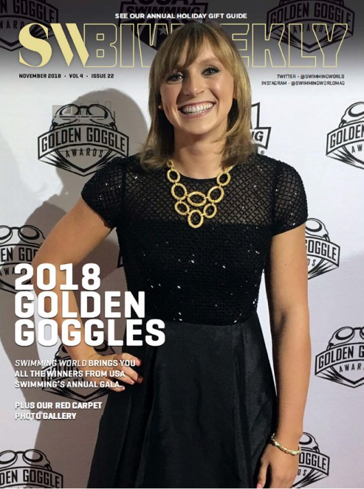 Swimming World Biweekly: 2018 Golden Goggles - Cover
