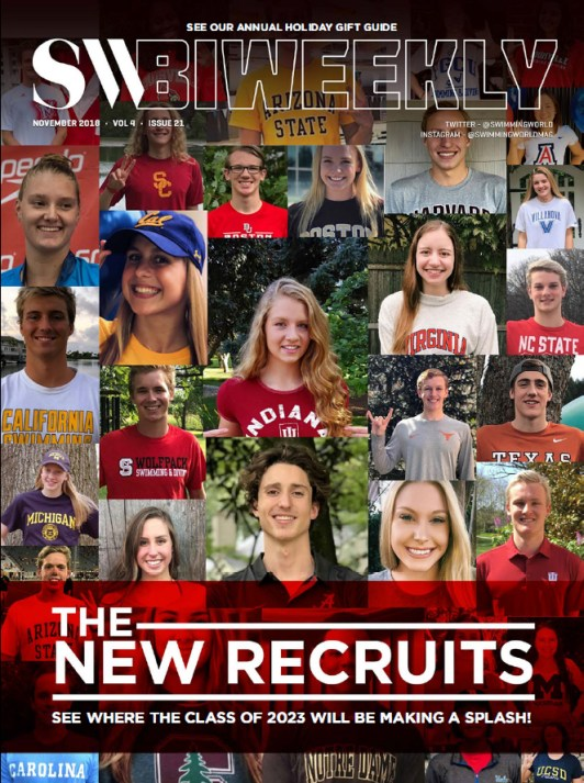 Swimming World Biweekly: The New Recruits - Cover