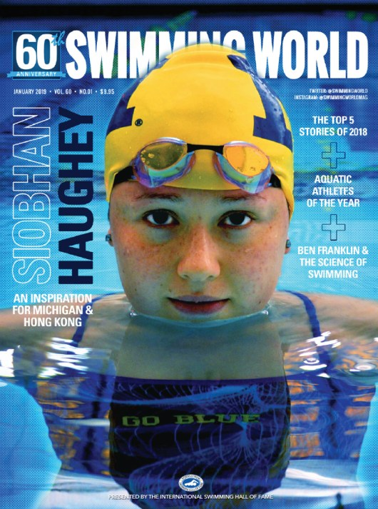 Swimming World Magazine January 2019 Issue - PDF ONLY - Cover