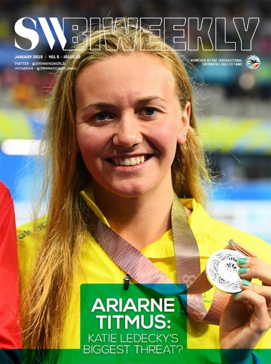 Swimming World Biweekly: Ariarne Titmus - Cover