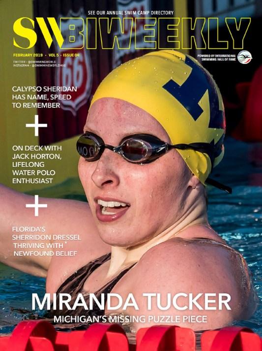 Swimming World Biweekly: Miranda Tucker - Cover