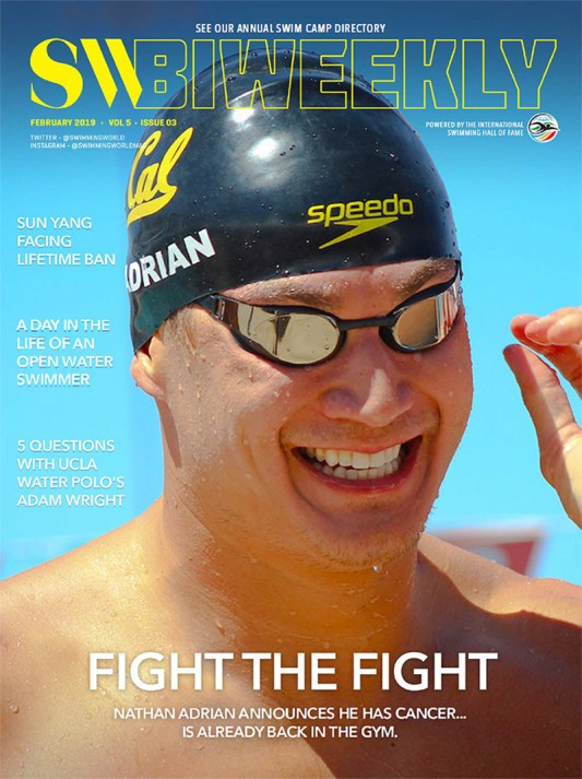 Swimming World Biweekly: Nathan Adrian - Cover