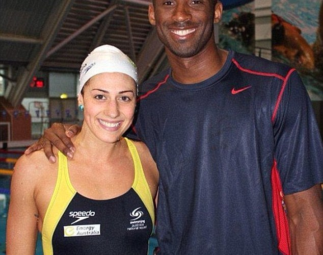 Stephanie Rice and Kobe Bryant