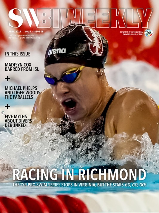 Swimming World Biweekly: Racing in Richmond - 2019 TYR Pro Swim Series Full Finals Recap - Cover