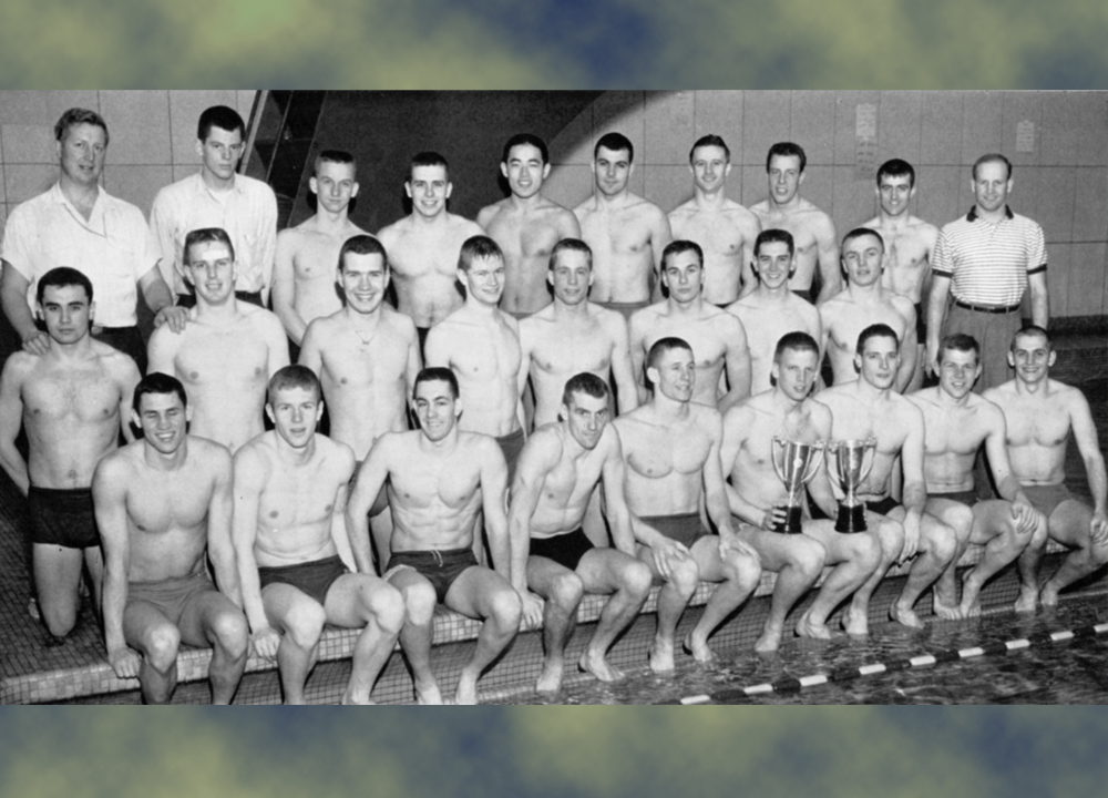 1959 University of Michigan D1 Swimming Team 1000x720