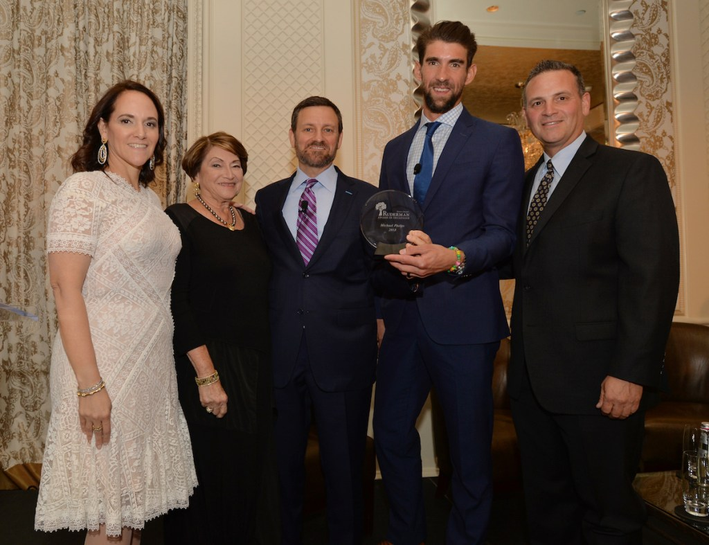 -Boston, MA-May 21, 2019- The Ruderman Family Foundation honored Michael Phelps with the MER Award for his work in bringing attention to mental health issues. © 2019 Photo by Cindy M. Loo