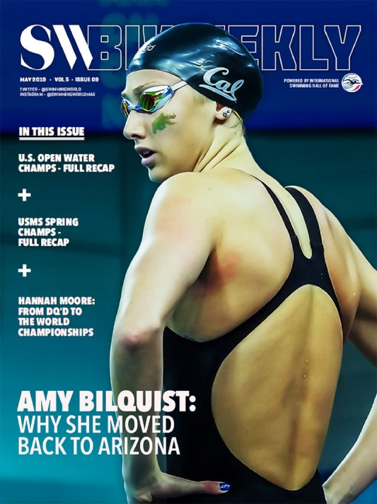 Swimming World Biweekly: Amy Bilquist - Why She Moved Back to Arizona - Cover