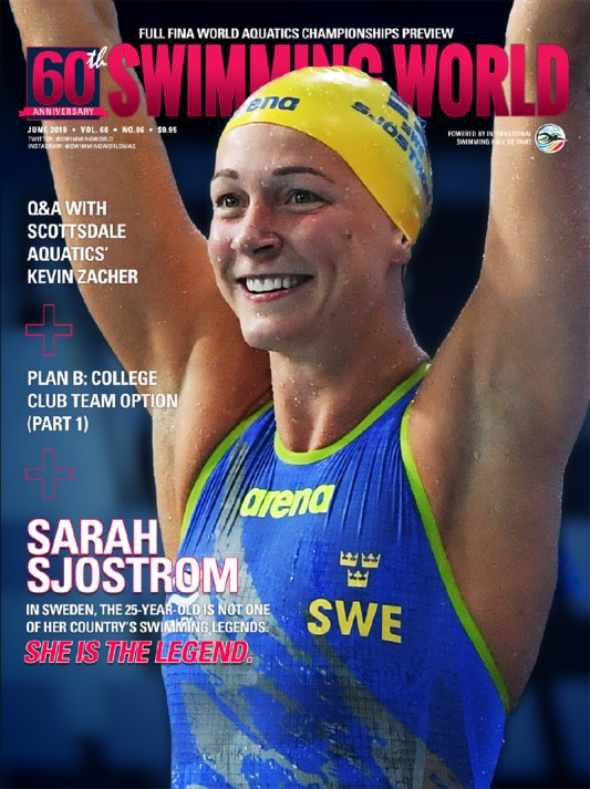 Swimming June 2019 Cover Sarah Sjostrom
