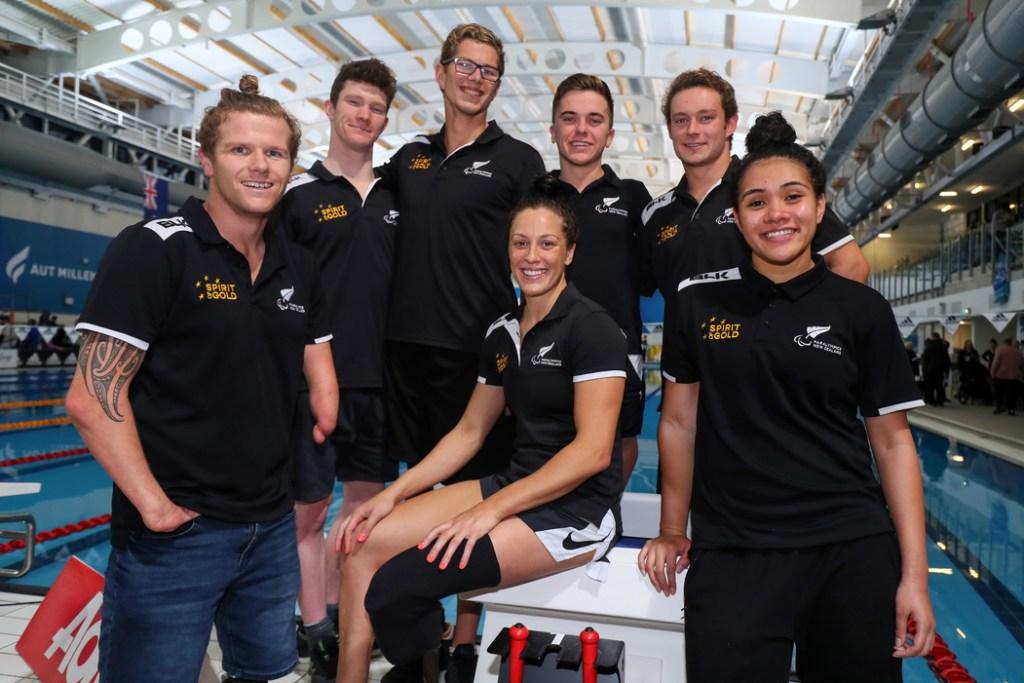 World Champs Para Team. Swimming New Zealand Aon National Open Championships, National Aquatic Centre, New Zealand, Friday 21 June 2019. Photo: Simon Watts/www.bwmedia.co.nz