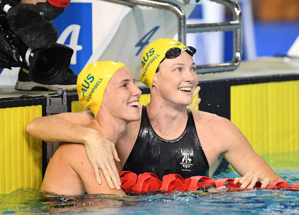 Cate Campbell abd Bronte Campbell Swimming World