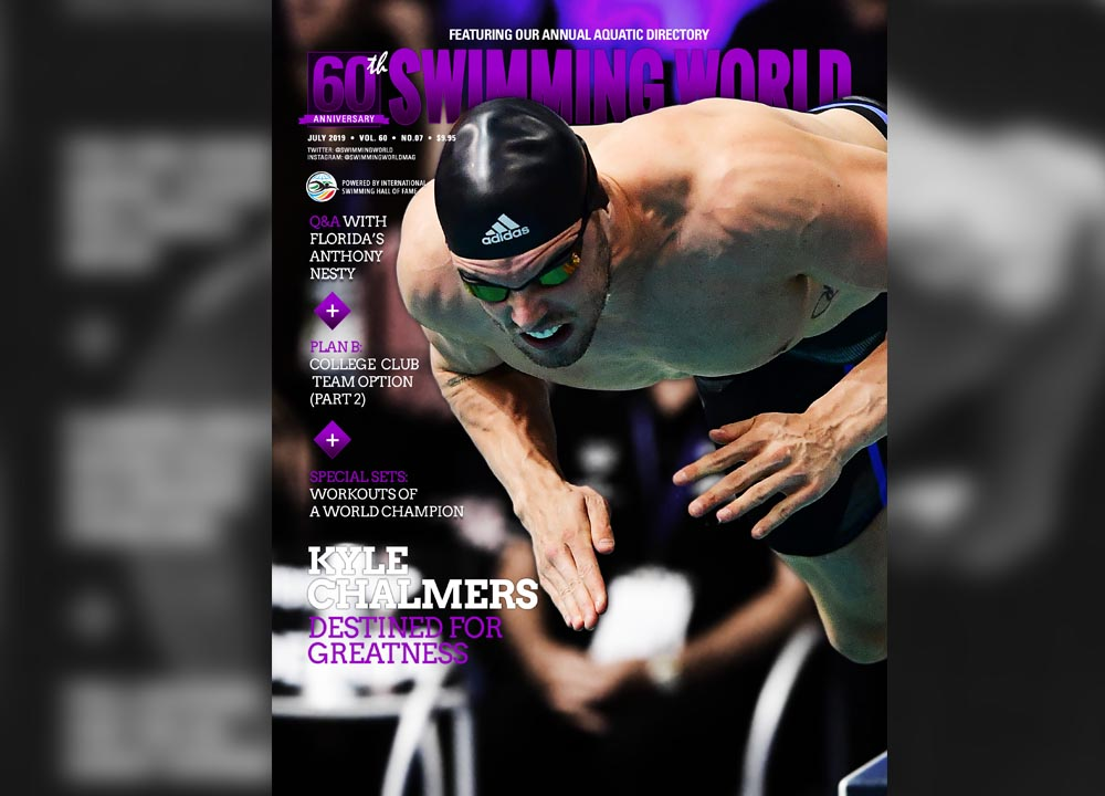 Swimming World July 2019 Kyle Chalmers slider