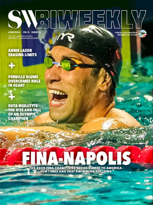 SW Biweekly: FINA-NAPOLIS - The 2019 FINA Champions Series Comes to America - Cover