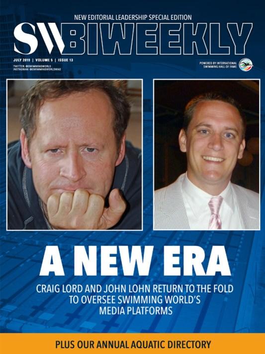 SW Biweekly - A New Era: Craig Lord and John Lohn Return to Swimming World - Cover